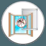 Москитная сетка на окна ПВХ в ПОДАРОК